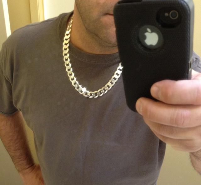 1  N Y Importer MENS Sterling Silver Chains  Necklaces   24 30 LONG HEAVY THICK - EBAY