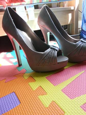 pair of tan color heels size 7 - $20 (mission)