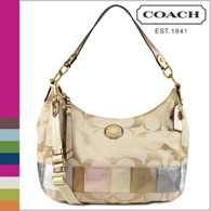 AUTHENTIC COACH NWT HOBO MULTI COLOR STRIPESIGNATURE PURSE BAG F19283 - $125 (BY LA PLAZA MALL MCALLEN)