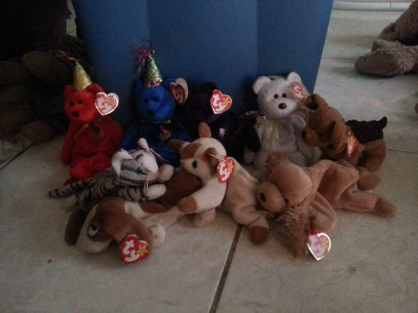 selling original TY beanie babies and antique porcelain dolls  mcallen  tx