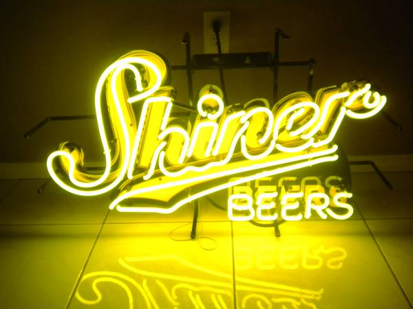 SHINER BEER NEON SIGN for GAME ROOM (RGV)