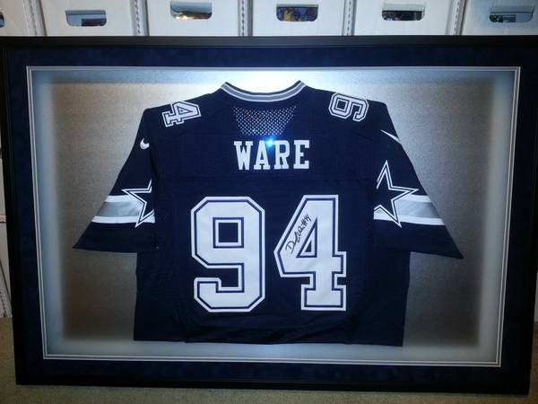 Demarcus Ware Dallas Cowboys Autographed Custom Framed Jersey - x0024650 (Mercedes)