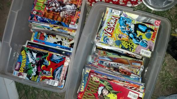 2bins full of comics  mission tx