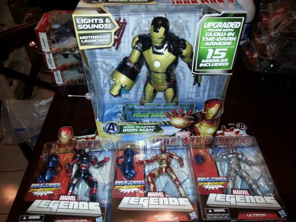 IRON MAN ACTION 3  MARVEL LEGENDS ACTION FIGURES  -   x0024 65  mcallen edinburg