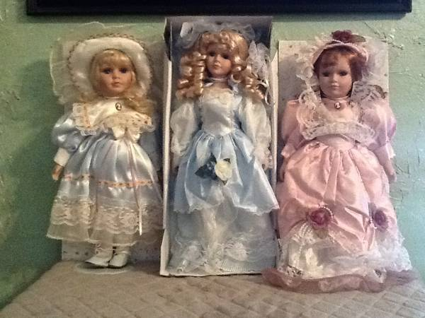 Genuine fine bisque porcelain dolls -   x0024 1