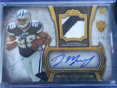 DEMARCO MURRAY TOPPS SUPREME RC ROOKIE AUTOGRAPH COWBOYS CARD LIMITED 25 RARE - $1 (EDINBURG)
