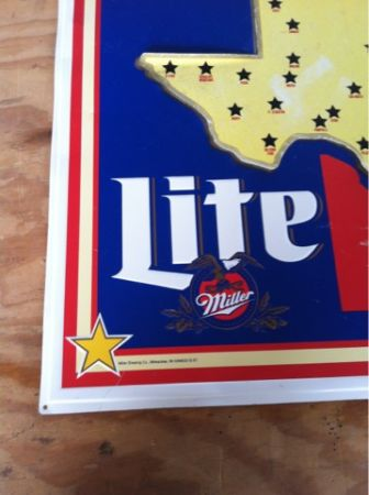 MILLER LITE LIFE IS GOOD BEER TIN SIGN - $35 (Mission )
