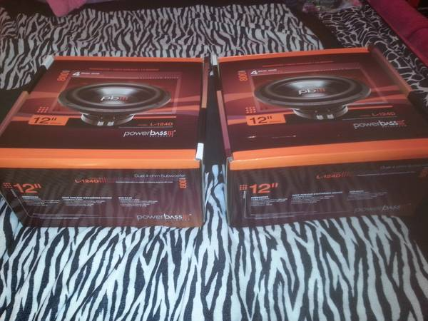 12inch powerbass subs brand new - $70 (7653)