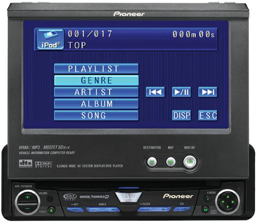PIONEER flipout CD,DVD touch screen car stereo (mission)