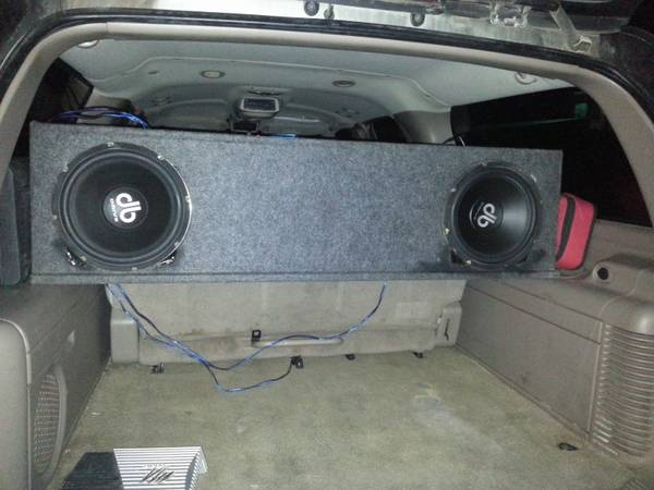 2 12 db drive speed with chevy ported box - $160
