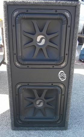 look .trade or sale pair of kickers l5 12 in with kicker box obo - $275 (mcallen)