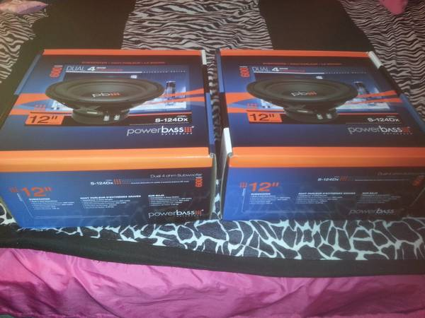 12 powerbass subs new - $65 (7653)