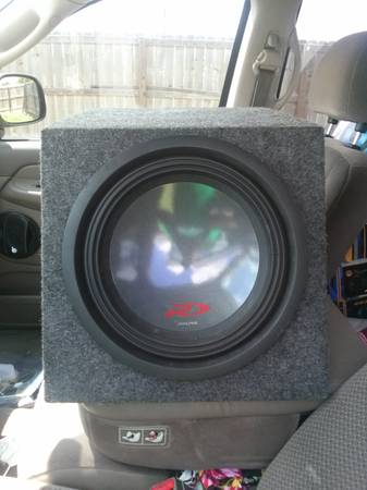 12 inch Alpine Type -R sub in box - $90