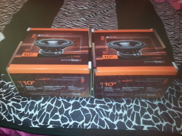 10 inch powerbass subs brand new - $65 (7653)