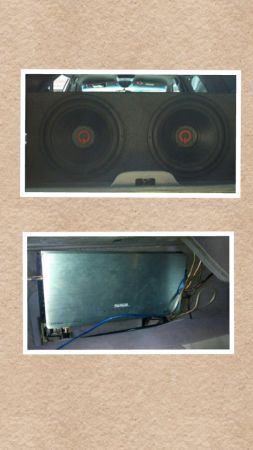 SPEAKERS AND AMP FOR SALE - $275 (SAN BENITO )