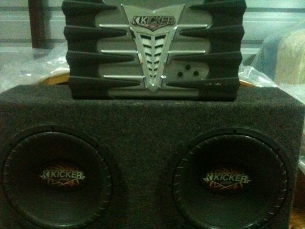 Will Not Last KICKER AMP  KiCKER BoX  with Speakers - $230