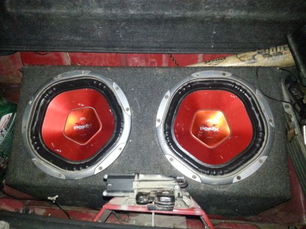 2 10in xplod subs with box - $75 (palmview)