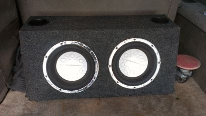 (2)Audiobahn AW 1206T 12 1100-watts RMS Flame-Q Car SubwoofersBox - $120 (Edinburg)