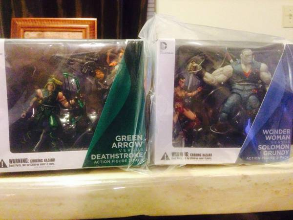 DC Injustice Figures Wonder Woman Grundy Green Arrow Deathstroke Gods  -   x0024 50  Mission