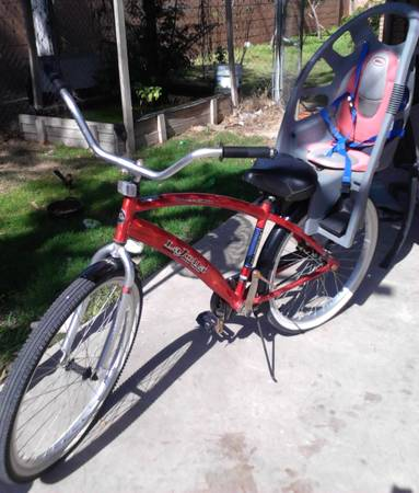 LA JOLLA STREET CRUISER BIKE WITH CHILD SEAT - $50 (MCALLEN)