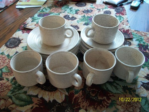 DISHES CUPS, SAUCERS and PLATES - $12 (Mission)