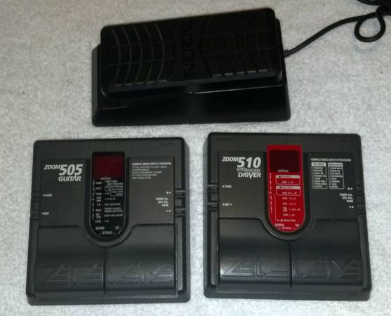 EFFECTS FX PEDALS FOR GUITAR ZOOM 505 ZOOM 510 AND FP02 - $125 (MCALLEN)