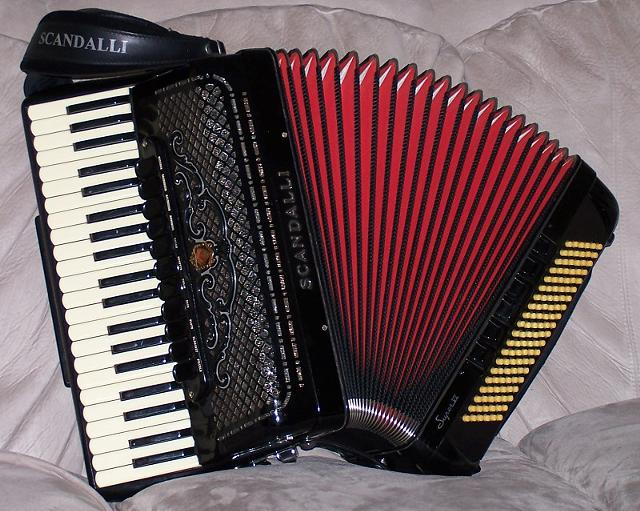1960s Scandalli Super VI Accordion