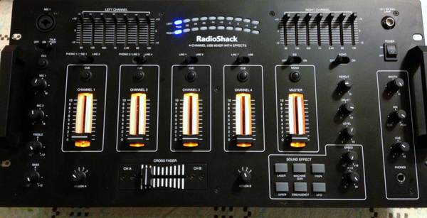 4 Channel plus Usb DJ Mixer Plus radio shack microphone - $120
