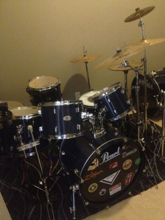 Selling 2 DRUM SETS, CYMBALS, Practice instruments and Accessories