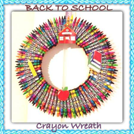 HOLIDAY SEASONAL FALL BACK TO SCHOOL TEACHERS STUDENTS WREATHS