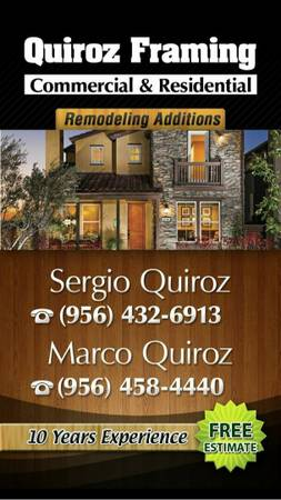 QUIROZ FRAMING AND REMODELATIONS   RGV