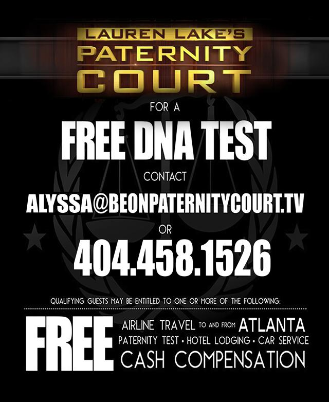 Do You Need A PATERNITY TEST and Want to Be on TV
