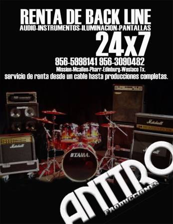 Dj,Audio,Iluminacion,Back line y Karaoke (mission)