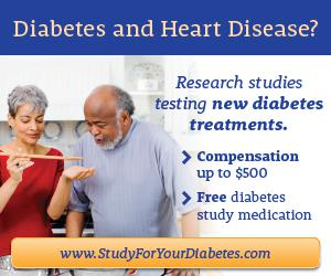 Diabetes Research Studies  Compensation up to  1 000
