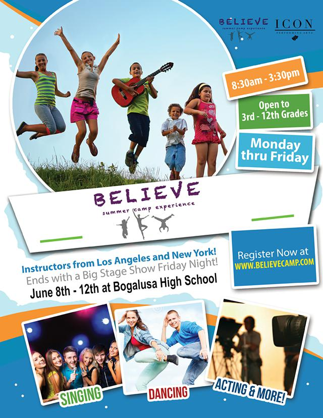 Performing Arts Camp Comes to Louisiana - Instructors from Los Angeles and New York