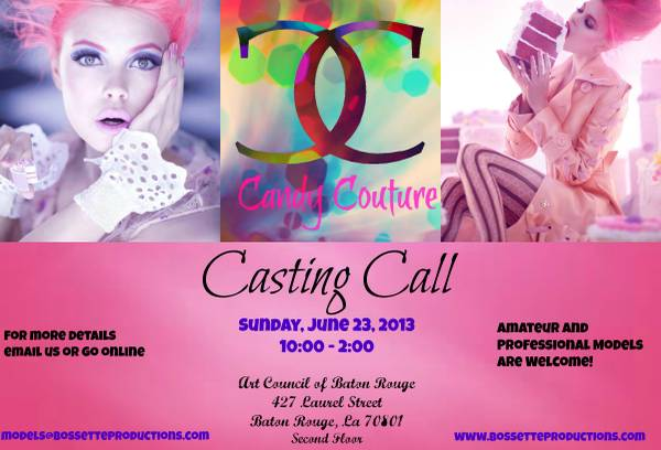 Casting Call for Fashion Show  Art Council of Baton Rouge
