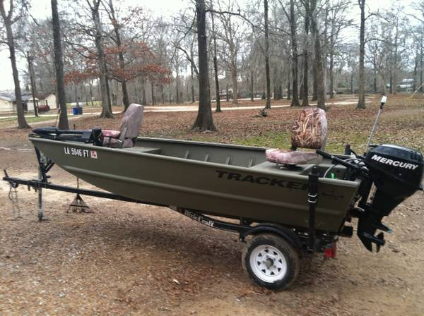 2007 Tracker Grizzly All Welded 14ft  Trade for Side By Side  Hebert