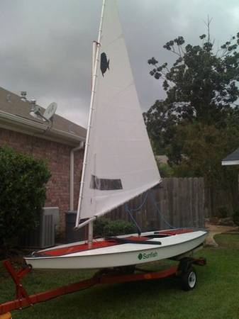 Sunfish Sailboat-Restored with trailer - $1500 (West Monroe, LA)