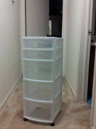Plastic drawers - $20 (Ruston)