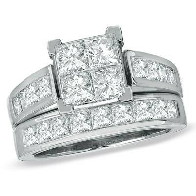 3CT DIAMOND BRIDAL SET -  2500  RUSTON MONROE
