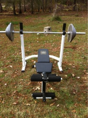 Olympic weight bench set - $140 (Farmerville )