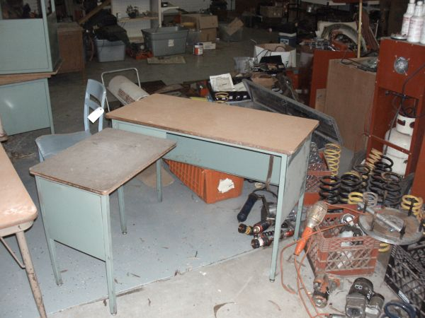 old school desk and tables old (downsville)