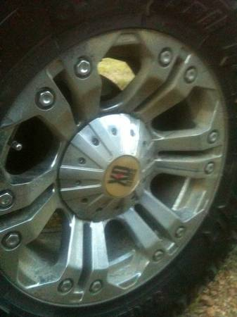 18 Monster XD rims on 12.5 wide tires - $600 (Rayville)