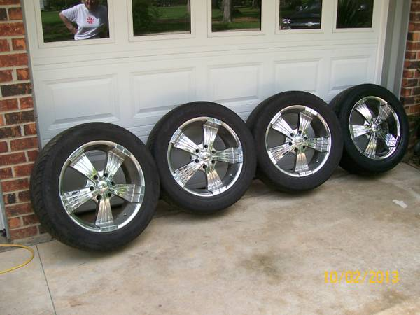 20 inch 6 lug chevy rims and tires sale or trade - $400 (sterlington la.)