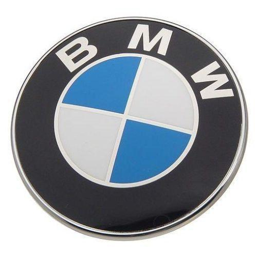 20  BMW Hood or Trunk 2 pin Roundel Badge Emblem - 82 mm 3 2 inch