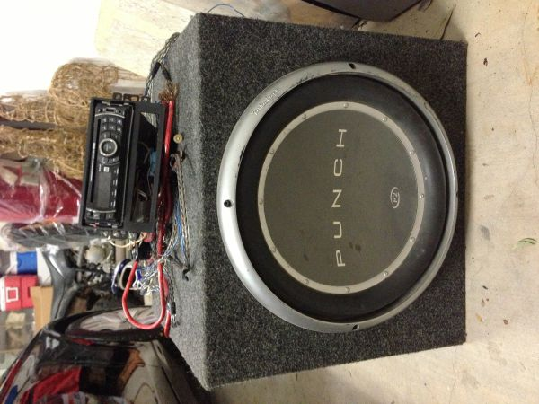 15 Subwoofer Punch P2 W Radio - $100