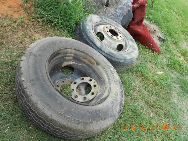 2  16.5 WHEELS AND TIRES, CHEVY 8 LUG - $70 (MONROE)