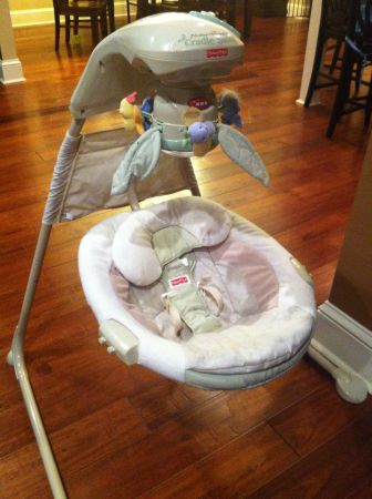 Fischer Price Natures Touch Cradle Swing - $45 (Ruston)