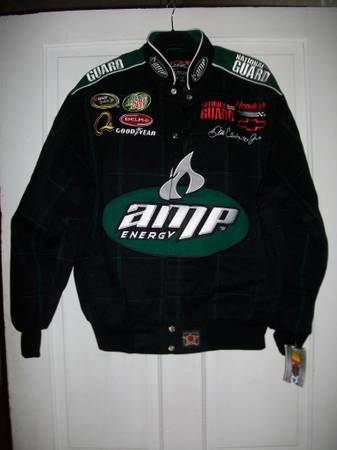 NEW 2009 JH DESIGN DALE EARNHARDT JR AMP RACING JACKET ADULT MEDIUM - $60 (SIMSBORO)