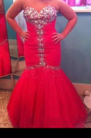 Pink Jeweled prom dress - $300 (Sterlington)